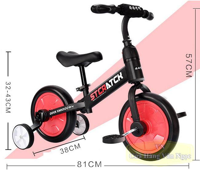 Xe chòi chân đa năng – xe thăng bằng – xe đạp Trẻ Em 101A