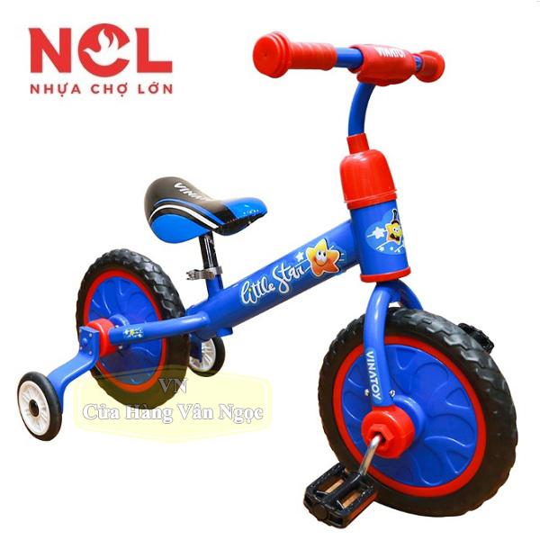 Xe đạp 2 bánh 3in1 Nhựa Chợ Lớn litte star vinatoy