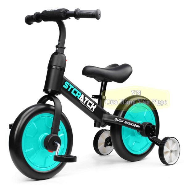 Xe thăng bằng Trẻ Em 4 in 1 – xe chòi chân 4 bánh – xe đạp 2, 3 bánh 101A