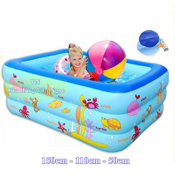 Bể bơi phao cho Bé Summer 3 tầng 1m5