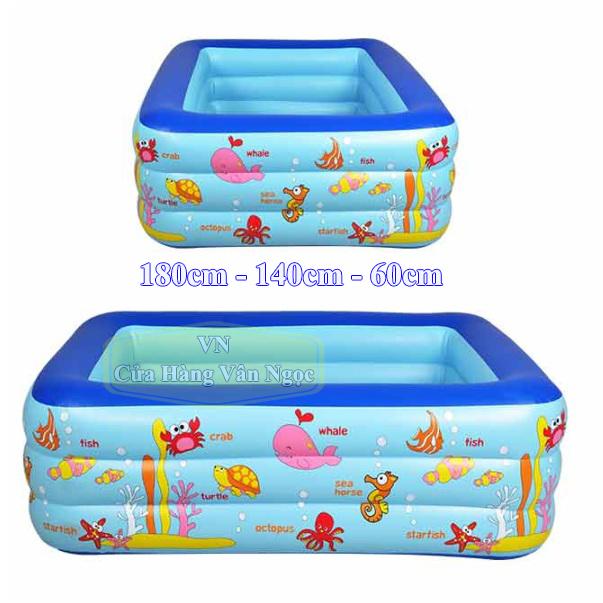 Bể bơi phao Summer cho Bé 3 tầng 1m8
