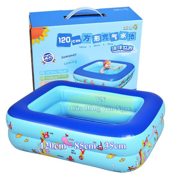 Bể bơi phao Trẻ Em Hình Chữ Nhật 1m2