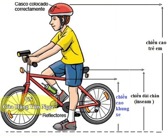 Kích cỡ xe đạp phù hợp với Trẻ Em