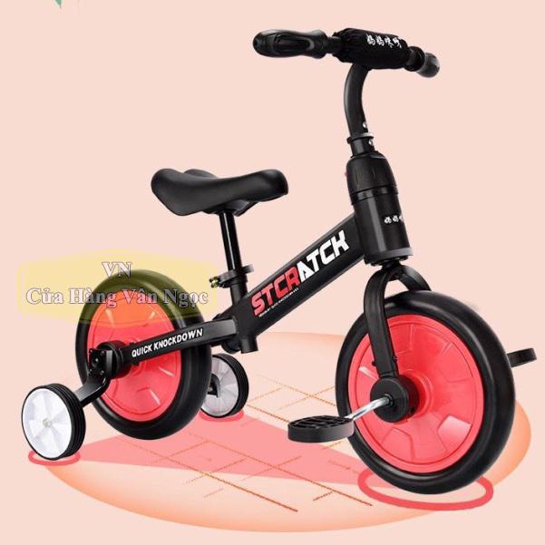Xe thăng bằng Trẻ Em 4in1 - xe chòi chân 4 bánh - xe đạp 2, 3 bánh 101A