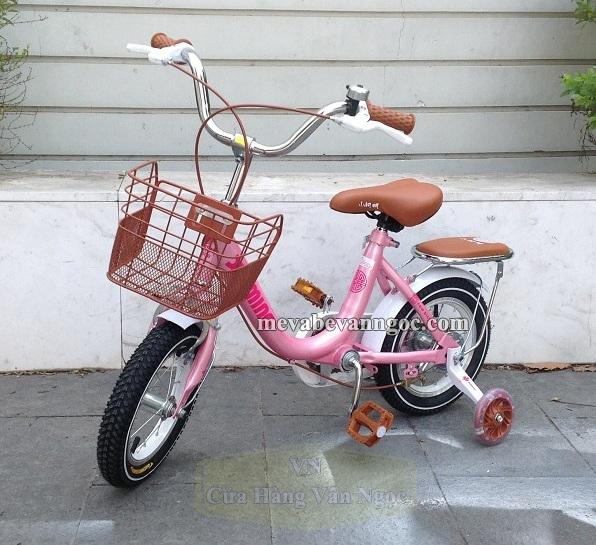 Xe đạp cho Bé Gái 4 tuổi màu hồng