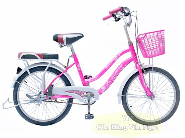 Xe đạp cho Bé Gái 9 tuổi màu hồng