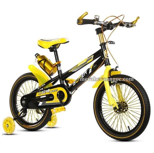 Xe đạp trẻ em leo núi 18 inch màu vàng