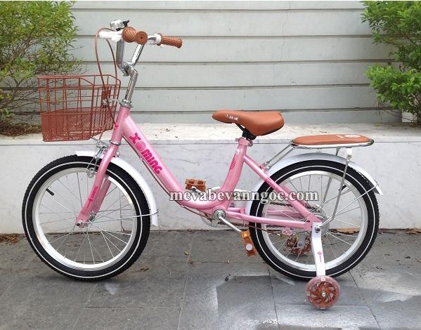Xe đạp trẻ em - Xe đạp cho Bé Gái 7 tuổi màu hồng