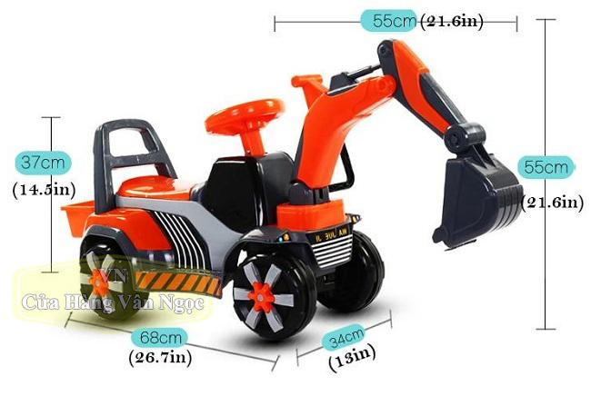 Xe máy xúc chòi chân Trẻ Em  JRT-168