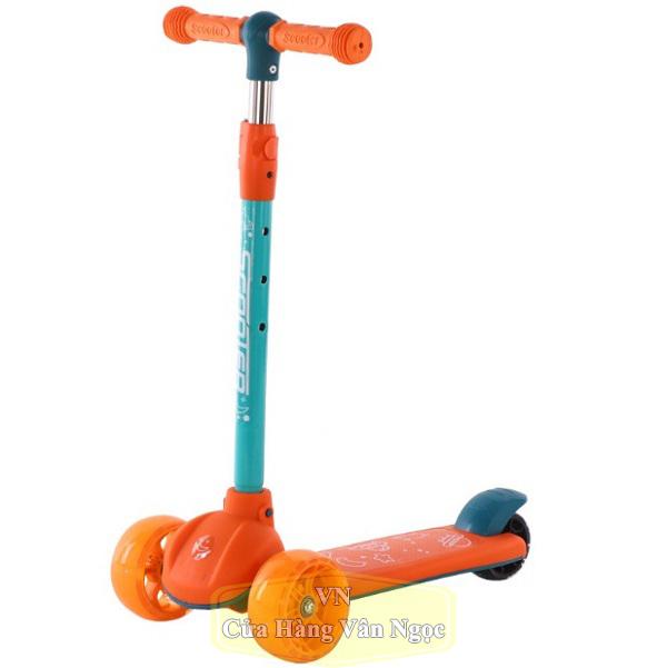 Xe Trượt Scooter Cho Em Bé 806 màu cam