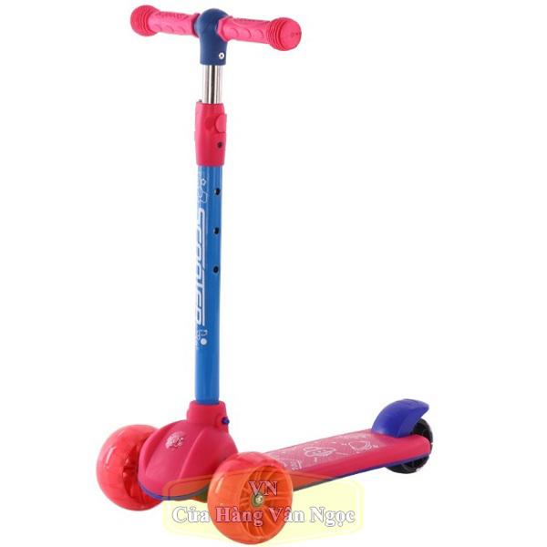 Xe Trượt Scooter Trẻ Em Ba Bánh 806 màu hồng