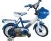 Xe Đạp Trẻ Em - Nhựa Chợ Lớn 12 inch Màu Xanh Trắng