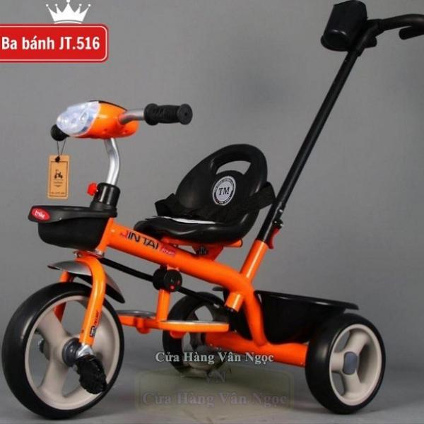 Xe đạp ba bánh trẻ em có tay đẩy JT 516